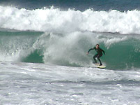 Surfing at Asilomar State Beach